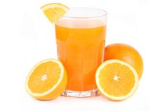 Glass of orange juice. Orange juice - studio shot  on white Stock Image