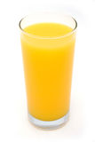 Glass of Orange Juice. Isolated on white royalty free stock photo