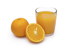 Glass of orange juice with clipping path. And oranges royalty free stock photos