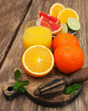 Glass of orange juice Royalty Free Stock Images