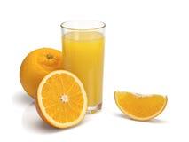Glass of orange juice with fruit Royalty Free Stock Image