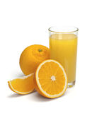 Glass of orange juice with fruit Royalty Free Stock Photo