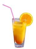 Glass of orange juice with fruit Stock Photography