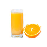 A glass of orange juice with fruits Stock Image