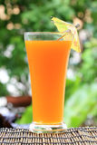 Glass of of orange juice Stock Photos