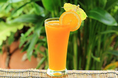 Glass of of orange juice Stock Photo
