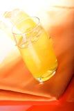 Glass of orange juice with ice Royalty Free Stock Image
