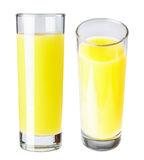 A glass of orange juice, isolate. Stock Images