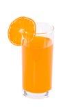 The glass of orange juice isolated Royalty Free Stock Image