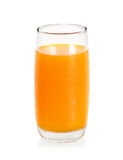 Glass with orange juice isolated on the white background Royalty Free Stock Images