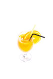 Glass of orange juice isolated on white Royalty Free Stock Image
