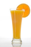 Glass of orange juice with slice. Glass of orange juice with a slice of orange Royalty Free Stock Photo