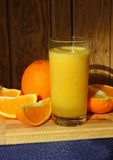 A glass of orange juice Stock Photos