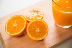 Glass of orange juice Stock Image
