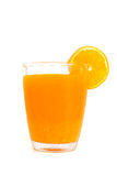 Glass of orange juice with slices orange Royalty Free Stock Image