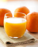Glass of orange juice Royalty Free Stock Image
