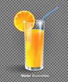 A glass of orange juice Royalty Free Stock Photography