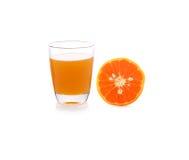A glass of orange juice on white Royalty Free Stock Photo