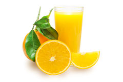 With a glass of orange juice Royalty Free Stock Photos