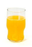 Glass with orange  sparkling tablet Stock Photography