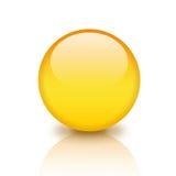 Glass orb. Illustration of glassy yellow orb Stock Photos