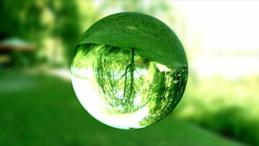 Glass orb or dew,environmental conservation, looping, stock footage stock video