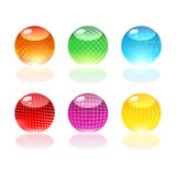 Glass orbs. Colorful glass orbs, web graphic Royalty Free Illustration