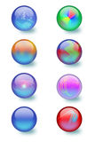 Glass orbs design Stock Image