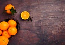 Glass of organic fresh orange juice with fruits Royalty Free Stock Photo