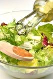 glass organisk salladsommar för bunke Royaltyfria Bilder