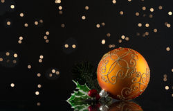 Glass ornament for the Christmas tree Stock Photos