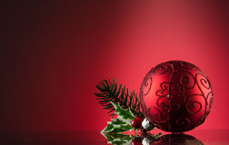 Glass ornament for the Christmas tree Stock Images