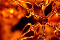 Glass ornament close up Royalty Free Stock Photography