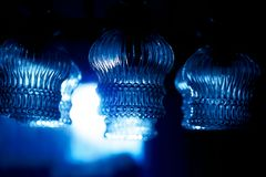 Glass ornamental lustre. Blur background. Blur color. Glass ornamental lustre. Blur background. Blur color royalty free stock image
