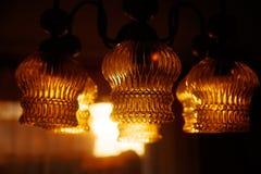 Glass ornamental lustre. Blur background. Orange color. Glass ornamental lustre. Blur background. Orange color stock images