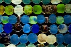 Glass pärlor Arkivbild