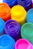 Glass paint pots #3. Lots of glass paint pots Stock Photos
