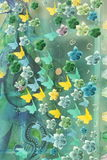 Glass painting Royalty Free Stock Photo