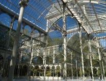 Glass palace. Madrid's glass and iron palace detail stock photo