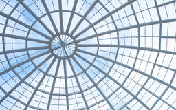 Glass panel roof. Office building with glass panel roof Royalty Free Stock Images