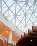 Glass panel roof. Modern design office building with glass panel roof Royalty Free Stock Image