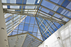 Glass panel roof Royalty Free Stock Photography