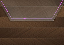 Free Glass Panel With A Pink Neon Light Over A Wood Background Stock Photos - 29618913