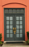 Glass-paneled Double Door Royalty Free Stock Images