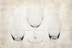 Glass on paper Stock Image