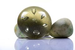 Glass paper weight Stock Images