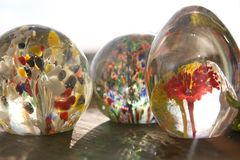 Glass paper weights Royalty Free Stock Photography
