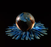 Glass, Paperweight,globe. Stock Photography
