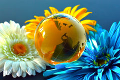 Glass, Paperweight,globe. Stock Photo