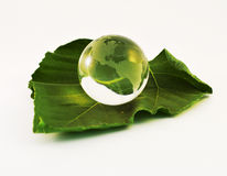 Glass, Paperweight,globe. Stock Photos